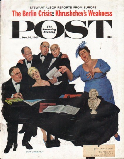 1961 Saturday Evening Post Cover Page ~ December 16, 1961