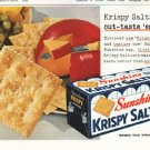 """1956 Krispy Saltines Ad """"out-taste"""""""