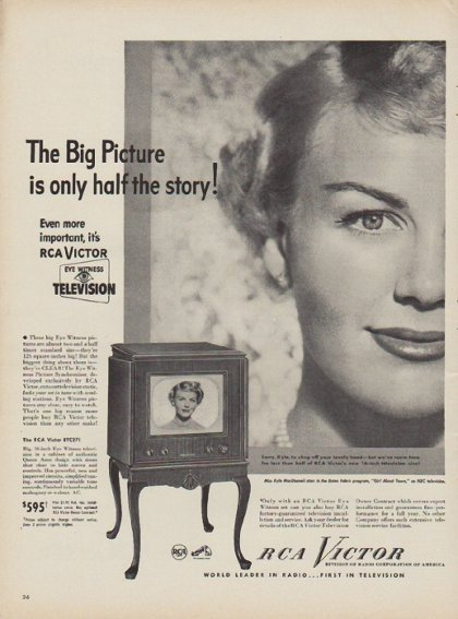 "1949 RCA Victor Ad ""The Big Picture"""