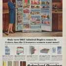 """1967 Admiral Refrigerator Ad """"5 Features"""""""