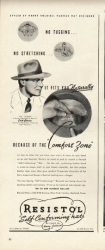 "1948 Resistol Hat Ad ""Comfort Zone"""