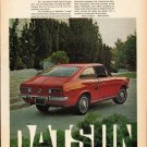 "1972 Datsun Ad ""miniature musclecar"" ~ (model year 1972)"