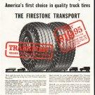 "1956 Firestone Tire Ad ""The Firestone Transport"""