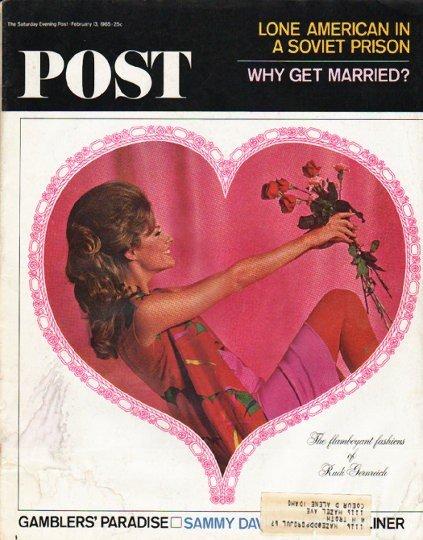 "1965 Saturday Evening Post Cover Page ""Rudi Gernreich"" ~ February 13, 1965"