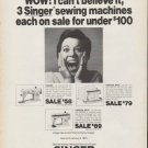 "1972 Singer Sewing Machine Ad ""WOW"""