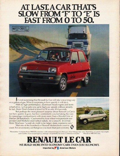 "1980 Renault Le Car Ad ""At last"" ~ (model year 1980)"