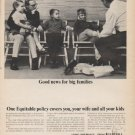 "1965 The Equitable Life Assurance Society Ad ""Good news"""