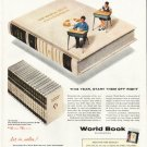 """1956 World Book Encyclopedia Ad """"Foundation for Success"""""""