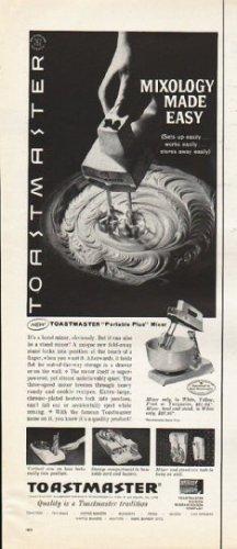 "1961 Toastmaster Ad ""Mixology Made Easy"""
