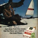 """1972 Old Gold Cigarettes Ad """"Get away"""""""