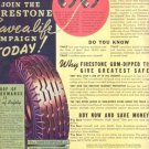 "1937 Firestone Tire Vintage Ad ""Risk Your Life...!"""