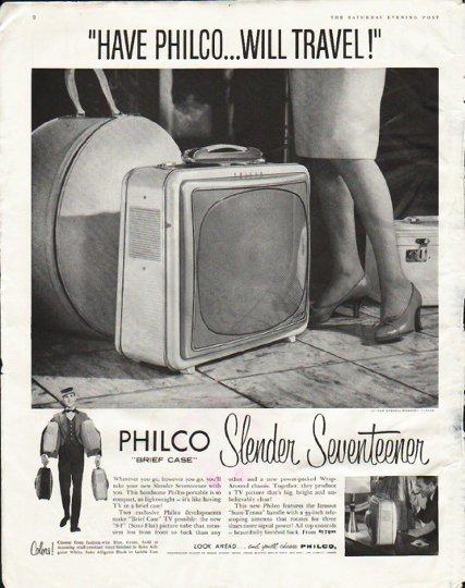 "1958 Philco Television Ad ""Will Travel"""