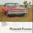 """1965 Plymouth Ad """"The Roaring '65s"""" ~ (model year 1965)"""