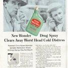 """1956 Vicks Nasal Spray Ad """"New Wonder"""""""