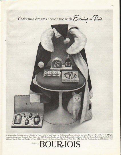 "1961 Bourjois Ad ""Christmas dreams"""