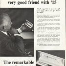 "1961 Parker Pen Ad ""very good friend"""