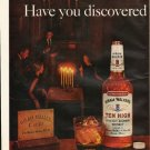 "1961 Hiram Walker's Ten High Bourbon Ad ""TRUE bourbon"""