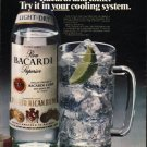"""1980 Bacardi Rum Ad """"cooling system"""""""