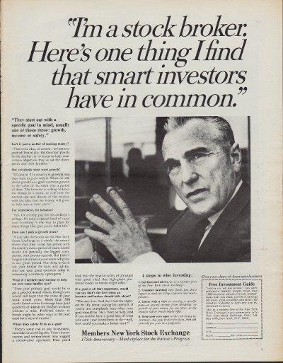 """1967 New York Stock Exchange Ad """"Investors"""""""