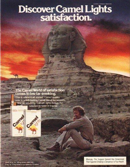 "1980 Camel Cigarettes Ad ""satisfaction"""