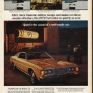 """1973 Ford Galaxie Ad """"Quiet is the sound"""" ~ (model year 1973)"""