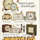 "1961 Westclox Ad ""Great to give"""