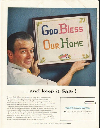 "1956 American Cyanamid Company Ad ""keep it Safe"""