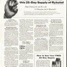 """1956 Rybutol Ad """"25-Day Supply"""""""