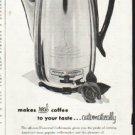 "1956 Universal Coffeematic Ad ""Flavor-Selector"""