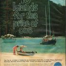 """1961 Pan Am Airline Ad """"10 Islands"""""""