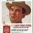 "1965 Lucky Strike Cigarettes Ad ""eat my hat"""
