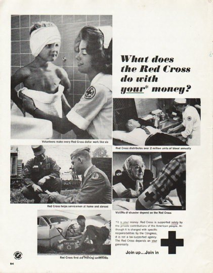 """1965 Red Cross Ad """"What does the Red Cross do"""""""