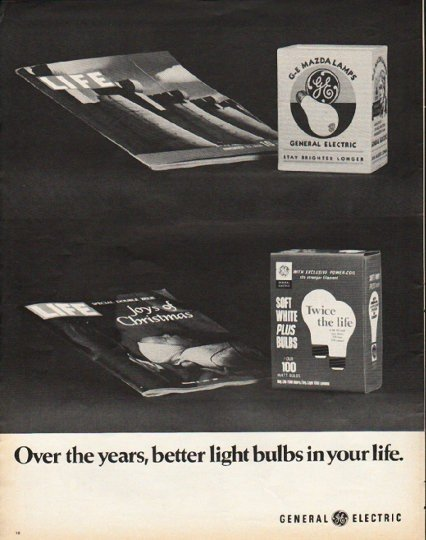 "1972 General Electric Ad ""Over the years"""