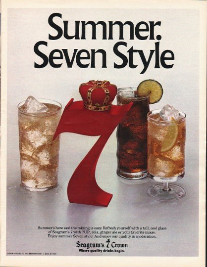 "1980 Seagram's 7 Crown Ad ""Summer"""