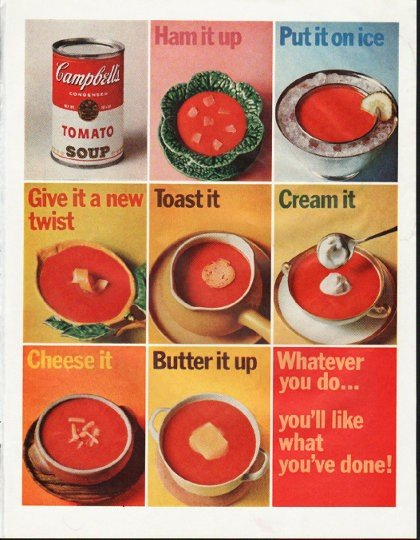 """1965 Campbell's Soup Ad """"Ham it up"""""""