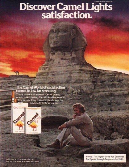 "1980 Camel Cigarettes Ad ""Discover Camel Lights"""
