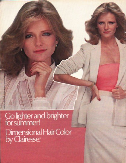 """1980 Clairesse by Clairol Ad """"Go lighter"""""""