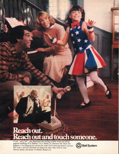 "1980 Bell System Ad ""Reach out."""