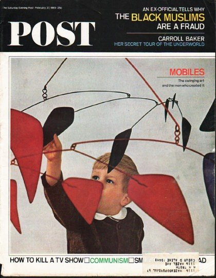 """1965 Saturday Evening Post Cover Page """"Mobiles"""" ~ February 27, 1965"""