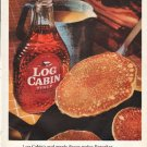 """1961 Log Cabin Syrup Ad """"real maple flavor"""""""