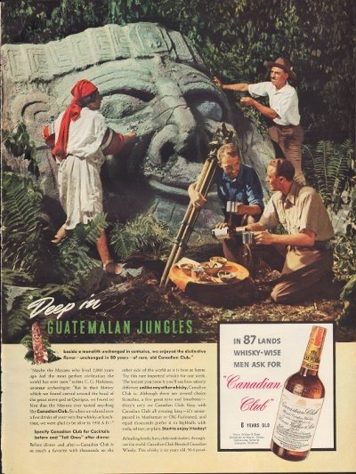 "1938 Canadian Club Whisky Ad ""Guatemalan"""