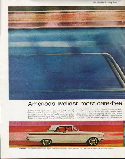 """1963 Ford Ad """"now going on"""" ~ (model year 1963)"""