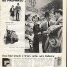 """1961 Listerine Antiseptic Ad """"Be Prepared"""""""