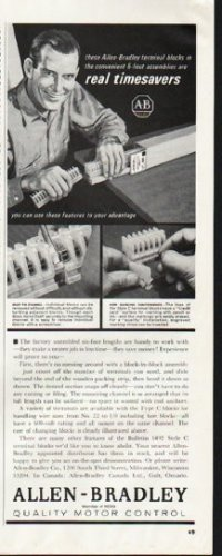 "1964 Allen-Bradley Ad ""real timesavers"""