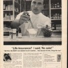 """1962 Mutual Of New York Ad """"No sale"""""""