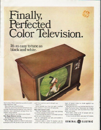"""1965 General Electric TV Ad """"Perfected"""""""