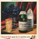 """1948 Clicquot Club Ginger Ale Ad """"It's flavor-aged"""""""