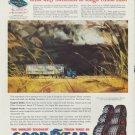 "1960 Goodyear Truck Tires Ad ""Cross-Ribs"""