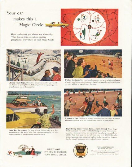 "1958 Ethyl Corporation Ad ""a Magic Circle"""