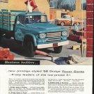 "1958 Dodge Trucks Ad ""Power Giants"" ~ (model year 1958)"